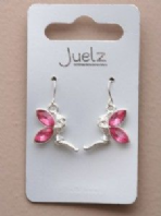 Coloured crystal wing fairy earrings (Code 3096)
